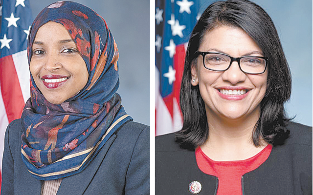 Congresswomen Ilhan Omar (left) and Rashida Tlaib.