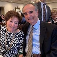 Shirley and Perry Brickman soak in the love from more than 300 attendees.