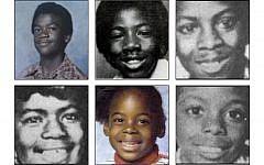 "Clockwise from top left: Edward Hope Smith, 14 years old; Alfred ""Q"" James Evans, 13 years old; Milton Harvey, 14 years old; Eric Antonio Middlebrooks, 14 years old; LaTonya Yovette Wilson, 7 years old and Angel Latrice Lenair, 12 years old."