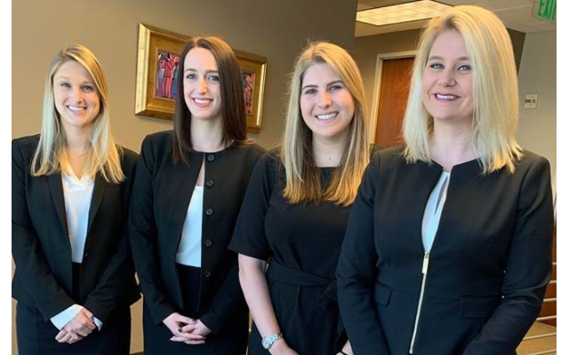 New attorneys of Kessler & Solomiany are (from left): Katie Ehrlich, Elizabeth Stein, Molly Teplitzky and Melissa Barber.
