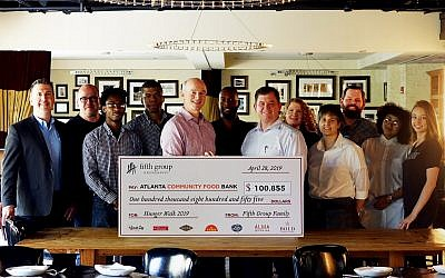 Fifth Group Restaurants raised $100,855 for the Atlanta Community Food Bank, surpassing their previous year by almost $3,000.