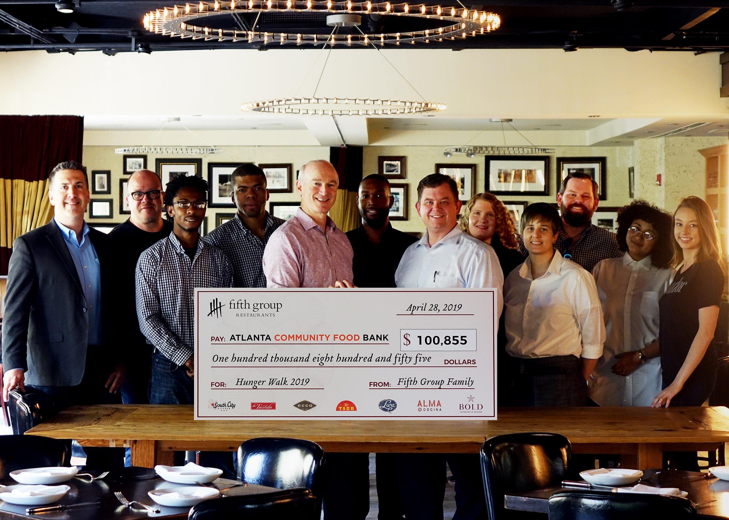 Fifth Group Raises Over 100 000 For Food Bank Atlanta