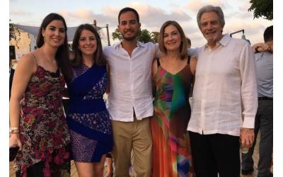 Deborah Herr Richter, second from left, with her family in Tel Aviv.