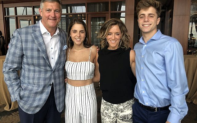 Family time: Allan Zachariah, Lindsay, Alison and Alex Rand.