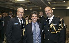 Keynote speaker Maj. Gen. Michael Edelstein with honoree Garry Sobel and Brig. Gen. Yehuda Fox.