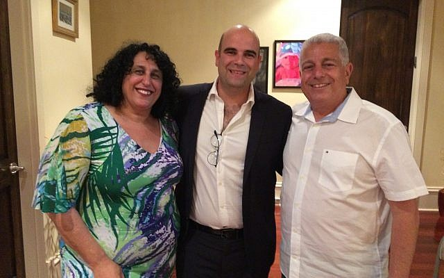 Jacob and Miri Cohen host Israel's ACT.il Founder and CEO Yarden Ben Yosef, center.