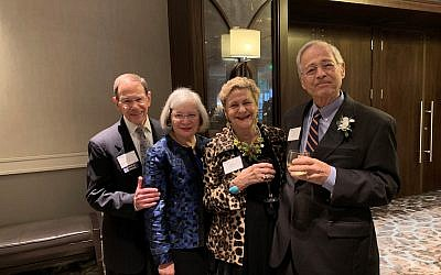 Past leaders Arnie and Tobyanne Sidman, Phillis and Lew Kravitz reminisce about their roles in the AJC.