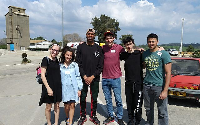 Those on the trip included, from left: Zoe Sokol, Noa Dan, Bryan White, Eitan Linsider, Gabi Gadelov and Oron Porat.