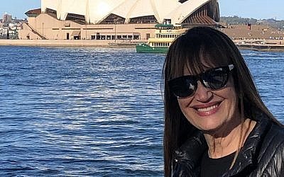 Robyn Spizman at the harbor and famous Opera House in Sydney, Australia.