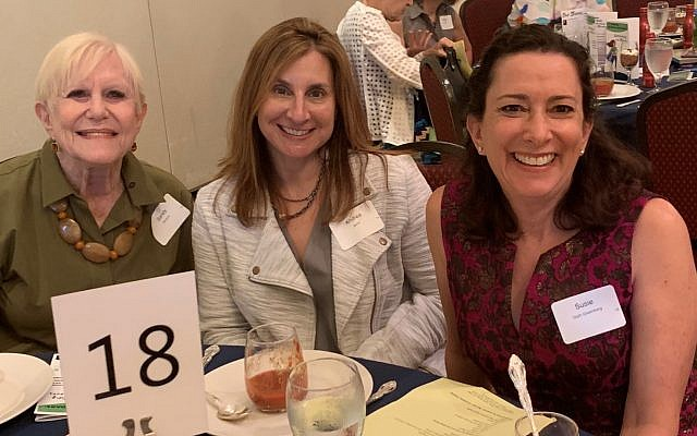 Sandy Abrams, Andrea Jaron and Susie Greenberg came to support NCJW.