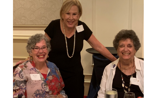 Event co-chair Ray Ann Kremer, Nancy Levine and Flora Rosefsky recall the great work of NCJW.