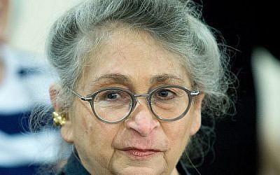 Moshe Shai/FLASH90 // Nechama Rivlin, wife of President Reuven Rivlin, on June 16, 2016.