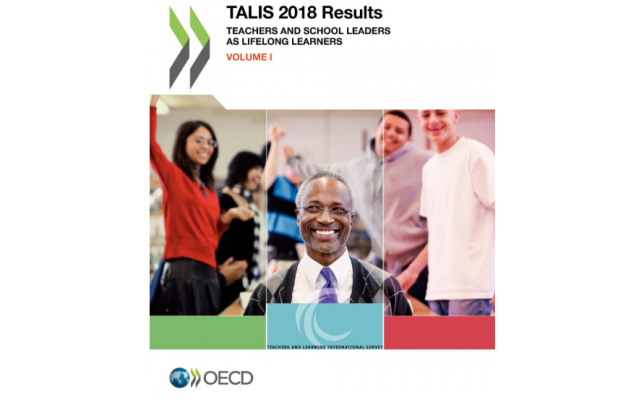 The cover of the TALIS report by international organization OECD.