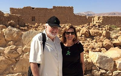 On one of many trips to Israel, the couple visited Masada.