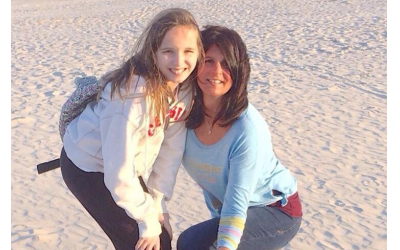 Sheri Okun and daughter Erin on Tybee Island about five years ago.