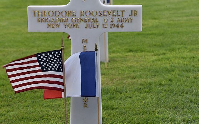 Tombstone of President Teddy Roosevelt's eldest son, Theodore Roosevelt Jr.