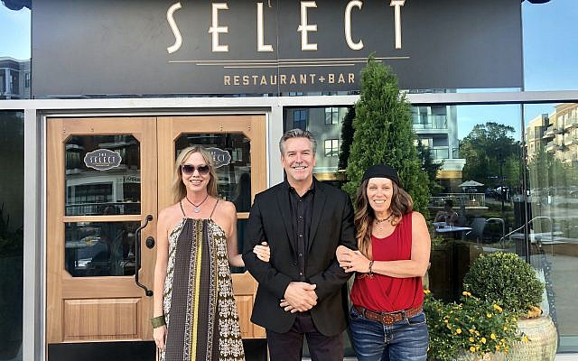 Jen Evans, Dave Green, partner/general manager of The Select, and Michal Bonell.