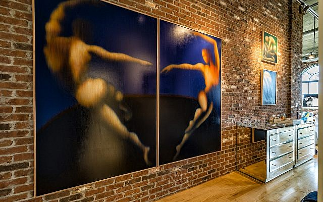 Good felt that her mother's body movement subjects (diptych, 75-by-60 inches) were inspired by her own love of dance as a teenager.