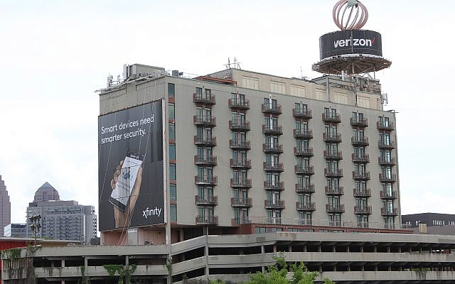 Photo courtesy of Midtown Alliance // The Temple and Selig Enterprises are among those who oppose digital LED advertising on Peachtree Street, across from the synagogue and adjacent to area businesses.