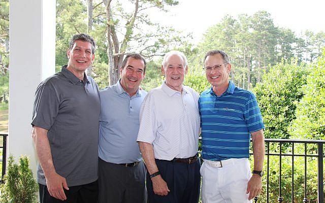 Photos by Eagleshotz // Honoree Steven Cadranel, tournament chair David Kusiel, Harry Maziar, and co-chair Doug Kuniansky.