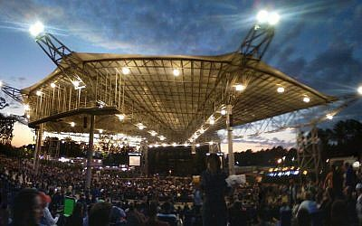 Ameris Bank Amphitheatre in Alpharetta has a capacity of 12,000, plenty of room for an exhilarating opening ceremony.