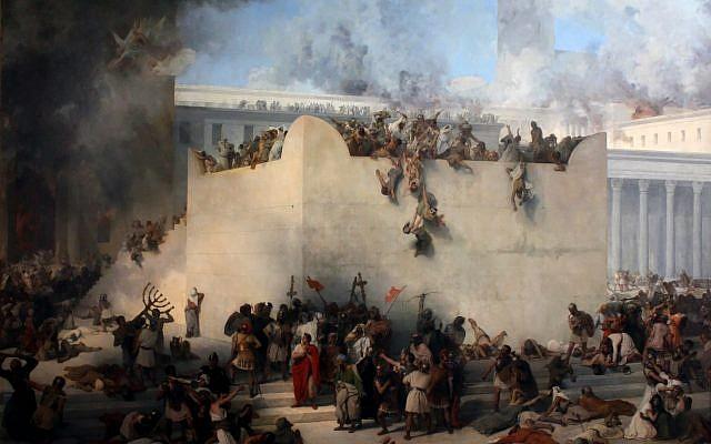 Destruction of the Temple of Jerusalem by Francesco Hayez.