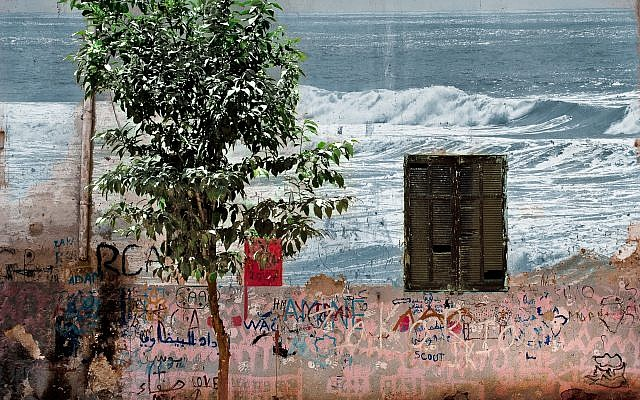 """From Sandrine Arons' """"Frontiers"""" series are the photographic compositions, """"Moroccan Mirage"""" and """"This Way Out."""""""