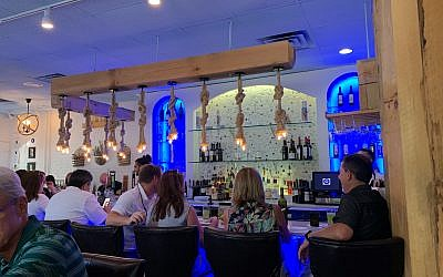 Vas Kouzina has a full bar in addition to wines imported from Greece.