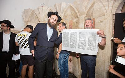 Rabbi Ephraim Silverman, left, with Eyal Postelnik.