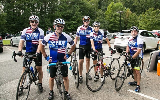 Cyclists gear up for the second annual FIDF Southeast Region Bike Ride.