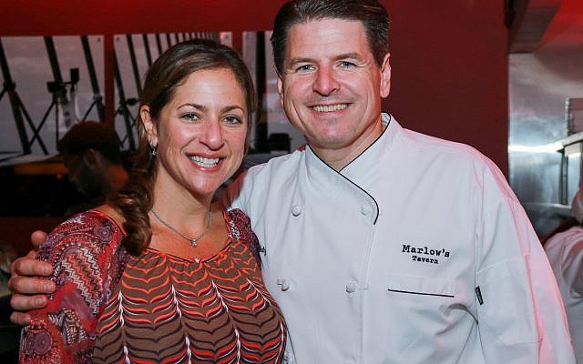 Partner and wine expert Roberta Nemo poses with CEO and executive chef John Metz of Marlow's Tavern.