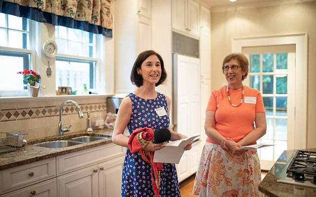 Photos by AtlantaCoffeeShops.com // Julia and Iris Levy give welcoming introductions at the first Tradition Kitchens event.
