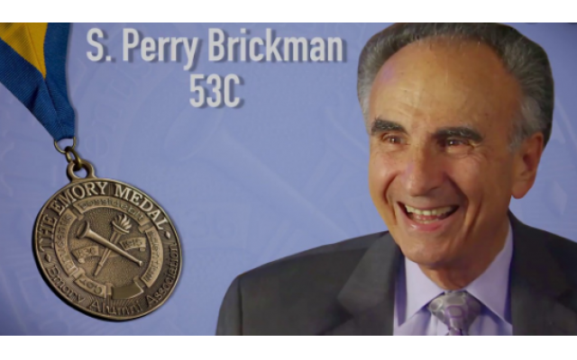 Emory University awarded Brickman its Emory Medal in 2016. It's the highest award the institution bestows on distinguished alumni.