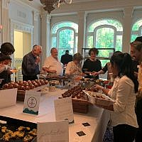 The beauty of Callanwolde Fine Art Center's stately rooms is the backdrop for caterer Eli Brafman's delicious buffet.