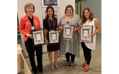 Panelists and their Certificates of Appreciation: Karen Arnovitz Grinzaid, Jane L. Meisel, Rochelle Schube and Stacey Davis.