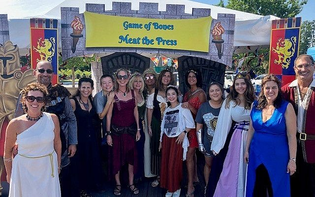 "Photo by Doug Weinstein // Meat the Press booth this year was a takeoff on the wildly popular, ""Game of Thrones."""