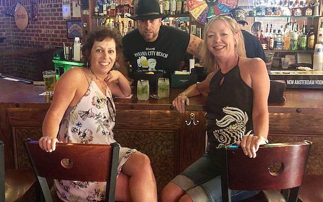 Michal Bonell, Brooklyn Cantina Director of Operations Mark Ferrara and Jen Evans bar side.