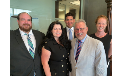 The new tax group at MendenFreiman are Matt Paolillo, Amy McGehee, Lance Einstein, Jeffrey Kess, and Ashley Duel.  Chris Chitty is not pictured.
