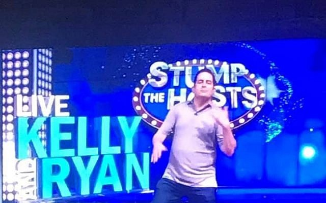"Ted Schwartz danced on ""Live with Kelly and Ryan."""