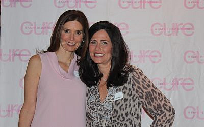 Jennifer Fink, left, and Jody Goldstein at the fourth annual Cure in Our Lifetime spring breakfast.