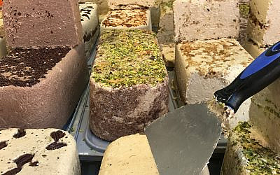 Photo by Staci Eichelbaum // Halva, pictured here from Jerusalem, is a sweet treat made from tahini, or sesame paste.