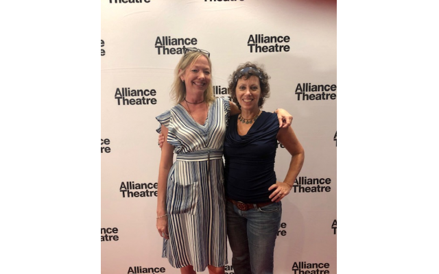 Jen and Michal on the red carpet at the Alliance Theatre's opening night.