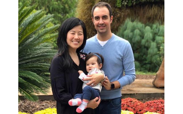 Yang Yang, husband Brian Weiss and daughter Ellie.