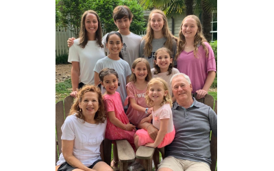 Edwin and Louise Rothberg, pictured here with their grandchildren, feel compelled to give back to the community.