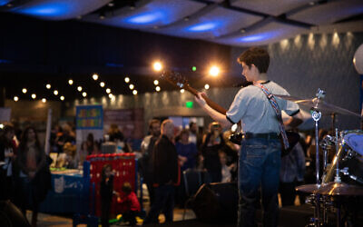 The band Friction rocked the house at the first Atlanta Jewish Life Festival.