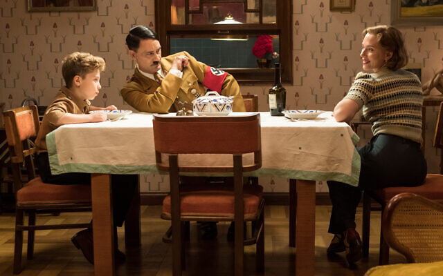 Jojo's imaginary Hitler is a part of a conversation he has with his mother.