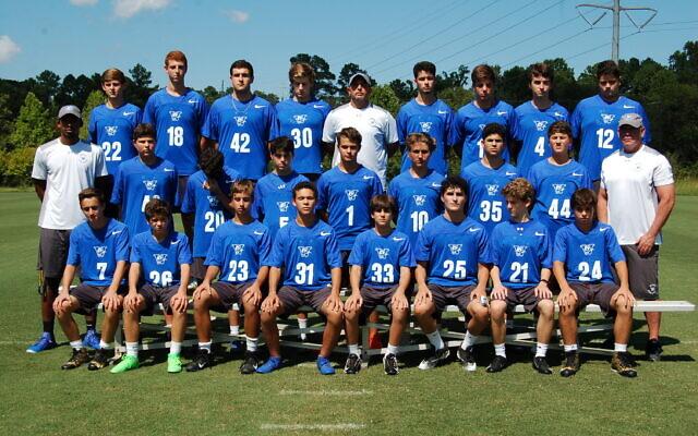 Weber's flag football team poses for a photo.