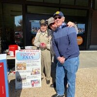 Bob Maran on Veterans Day with fellow JWV members raising funds for the organization.