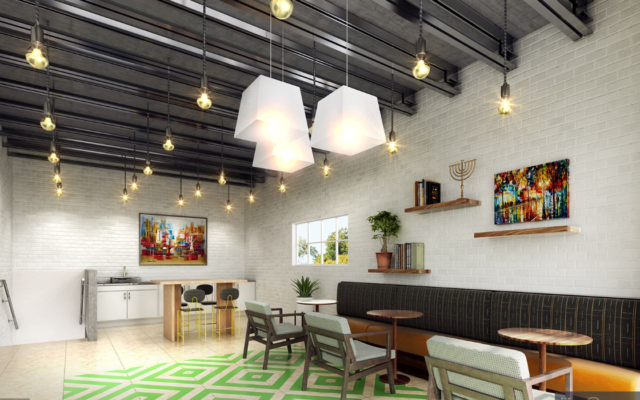 The BeltLine Chabad completed upstairs co-working and cafe spaces.