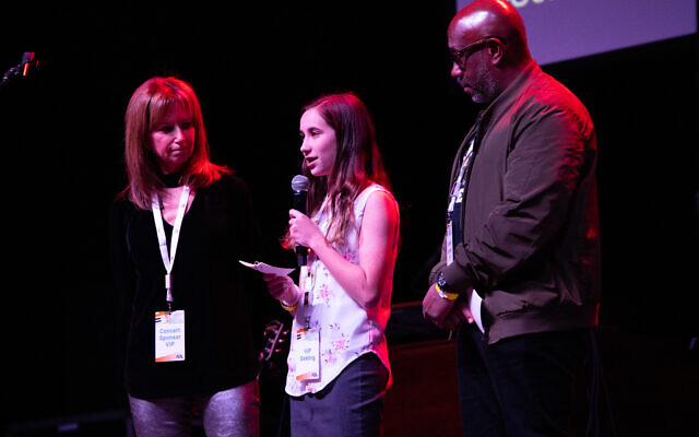 Liz Price and CJ Johnson shared the stage with Sydney Levine, center.